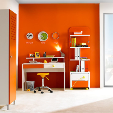 d coration bureau orange. Black Bedroom Furniture Sets. Home Design Ideas