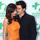 Miranda Kerr et Orlando Bloom lors des Global Green USA awards à Los Angeles le 3 juin 2011