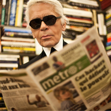 Karl Lagerfeld loves Metro