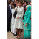 Kate Middleton en robe blanche en Asie