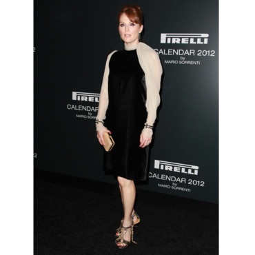 Julianne Moore en robe Lanvin bicolore