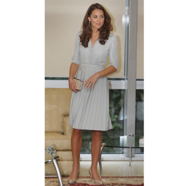 Kate Middleton en robe pastel en Asie
