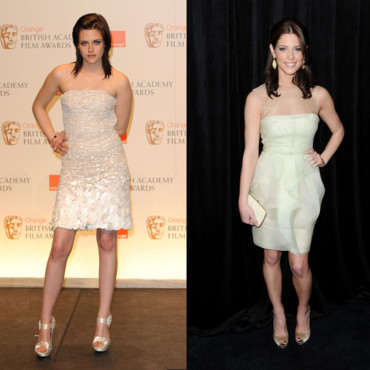 Ashley Greene et Kristen Stewart en robe blanche