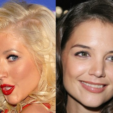 people : Christina Aguilera et Katie Holmes