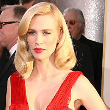 January Jones aux Golden Globes