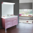 Meuble de salle de bain Rivoli rose cendr Decotec