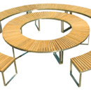 Table Deesawat Boston Curve Bench