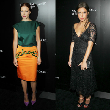 Léa Seydoux en Prada et Adèle Exarchopoulos en Louis Vuitton pour le gala des National Board of Review Awards le 7 janvier 2014 à new York copie