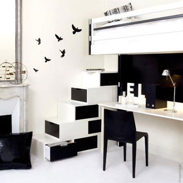 gain de place exploitez toutes les surfaces tendances. Black Bedroom Furniture Sets. Home Design Ideas