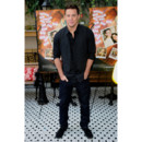 Channing Tatum en total look black avec chemise, jeans et veston en 2012 à New York