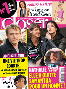 Couverture Magazine Closer Nathalie de Secret Story