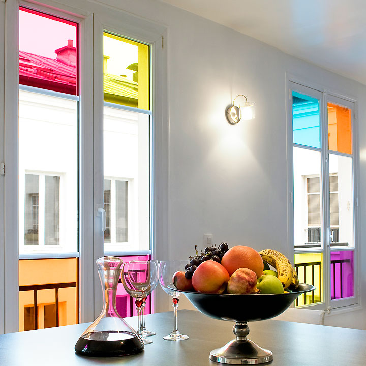 Les films de couleurs une id e originale pour illuminer for Decoration interieur couleur