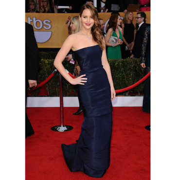 Jennifer Lawrence en Dior Couture aux SAG Awards 2013