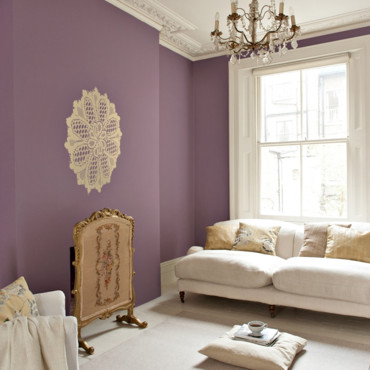 Peinture dulux valentine 30 ambiances color es adopter for Peinture violet salin