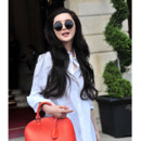 Fan Bing bing au Ritz cheveux longs juillet 2012