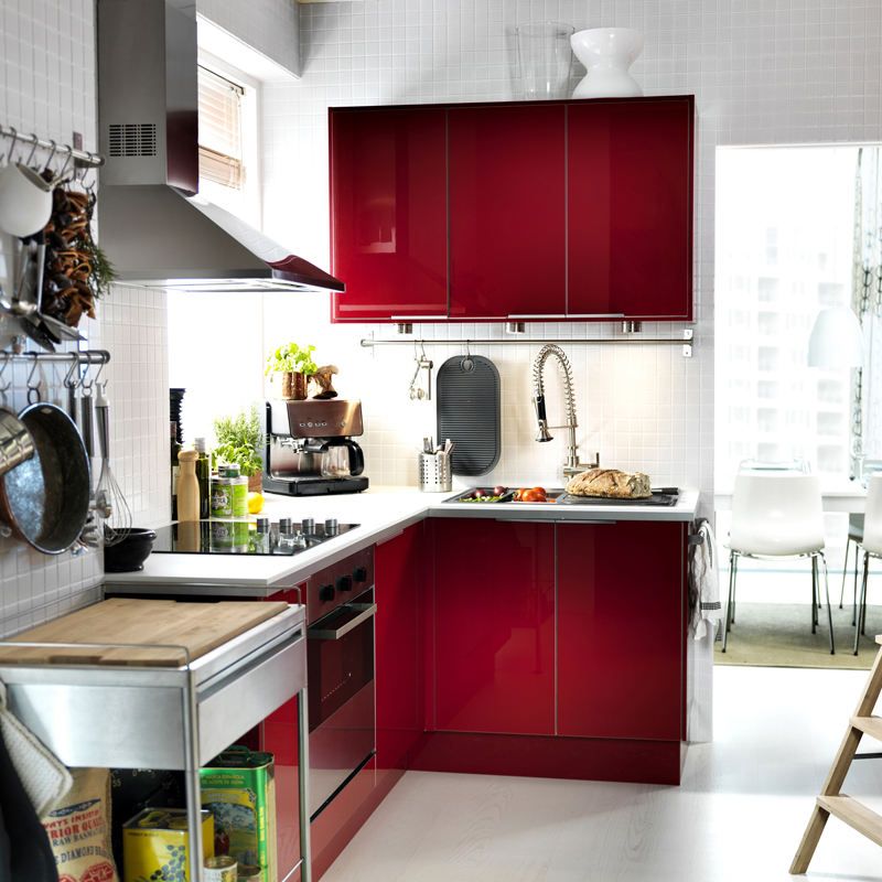 Cuisine Ikea Abstrakt Rouge Pictures to pin on Pinterest