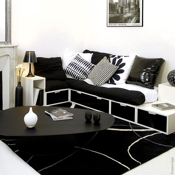 gain de place meuble sur mesure et mobilier modulable tendances d co d co. Black Bedroom Furniture Sets. Home Design Ideas