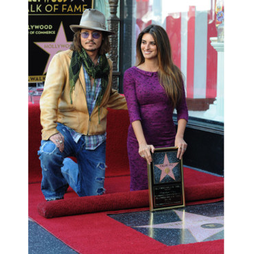 Penelope Cruz avec Johnny Depp Walk of Fame