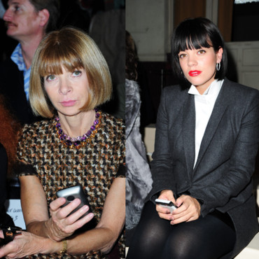 Anna Wintour et Lily Allen dingues de leur blackberry