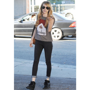 Emma Robert à West Hollywood à Los Angeles le 4 Août 2014.