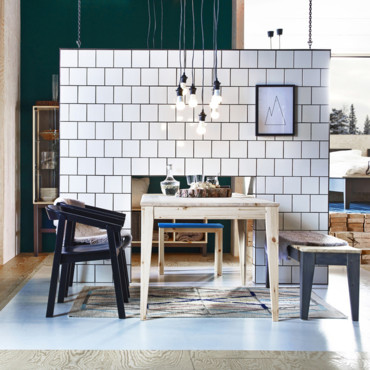 ikea norn s une collection capsule 100 made in sweden ikea norn s ambiance salle manger. Black Bedroom Furniture Sets. Home Design Ideas