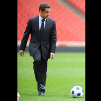 Photo : Nicolas Sarkozy fan de foot ?