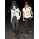 Cindy Crawford en Slash et son mari en Axl Rose de Guns and Roses pour Halloween 2013