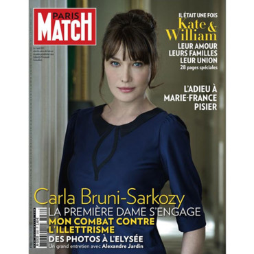 Paris Match couverture Carla Bruni