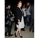 Jessica Chastain au défilé Saint Laurent Paris