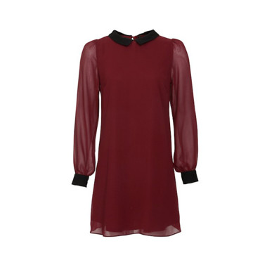 La robe bordeaux New Look 25 euros