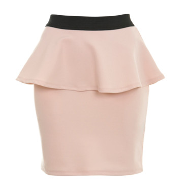 Jupe péplum rose pâle Miss Selfridge 26 euros