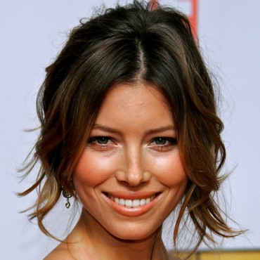 Jessica Biel tout sourire