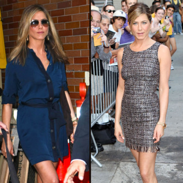 Jennifer Aniston 1 fille 2 looks