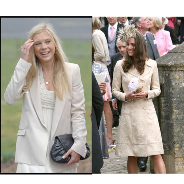 Kate Middleton et Chelsy Davy classes en blanc