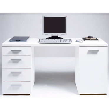 d co bureau blanc. Black Bedroom Furniture Sets. Home Design Ideas