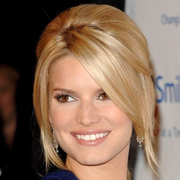 Jessica Simpson tout sourire