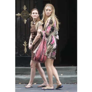 Leighton Meester et Blake Lively en tongs