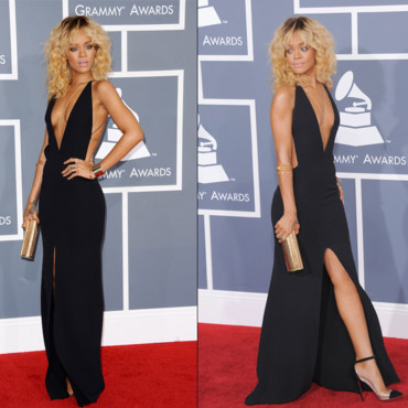 Grammy Awards - Rihanna en Giorgio Armani double face