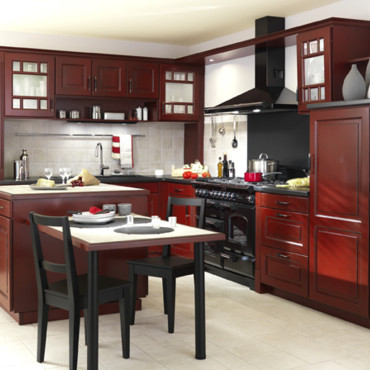 cuisine cuisine style bistrot rouge 1000 id es sur la. Black Bedroom Furniture Sets. Home Design Ideas