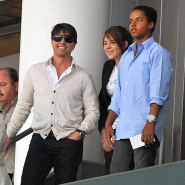 Tom Cruise, sa fille Isabella et son fils Connor