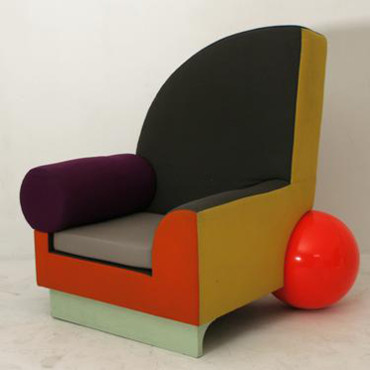 Salon du vintage : le fauteuil Bel Air de Peter Shire