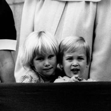 Le Prince William et sa cousine Zara Philips le 16 juin 1984