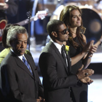 Photo : Révérend Al Sharpton, Usher et Brooke Shields