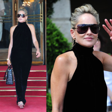 Sharon Stone sort du Ritz le 02 juillet 2012