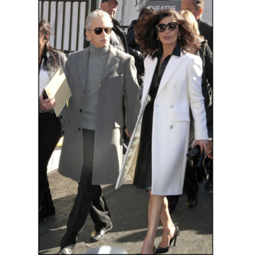 Fashion Week de New York Catherine Zeta-Jones et Michael Douglas au défilé Michael Kors