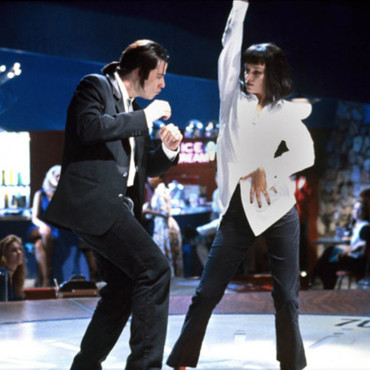 "John Travolta et Uma Thurman dans ""Pulp Fiction"""