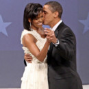 Michelle Obama et Barack Obama amoureux