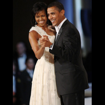 Michelle Obama et Barack Obama au bal