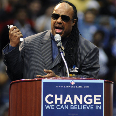 Stevie Wonder soutient Barack Obama
