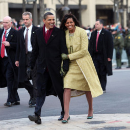 Michelle Obama et Barack Obama dans les rues de Washington